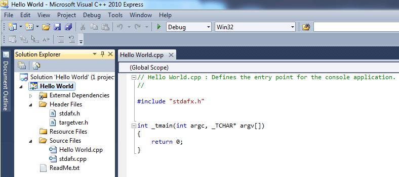 C++ Hello World Sample Source Code | C++ Code Sample