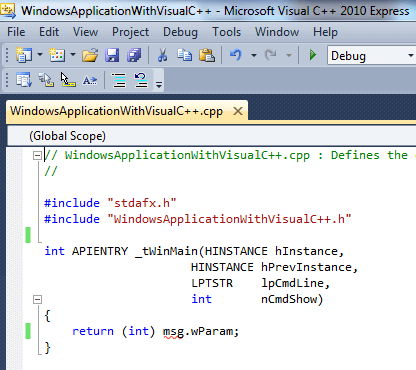 Creating a Basic Hello World Application in Visual C++ Express Edition