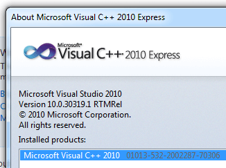 Free Visual Studio Express Edition for Creating C++ Applications