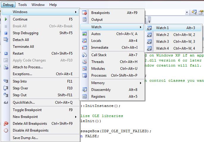 Debugging Helpers in Visual Studio when Debugging a Visual C++ Application