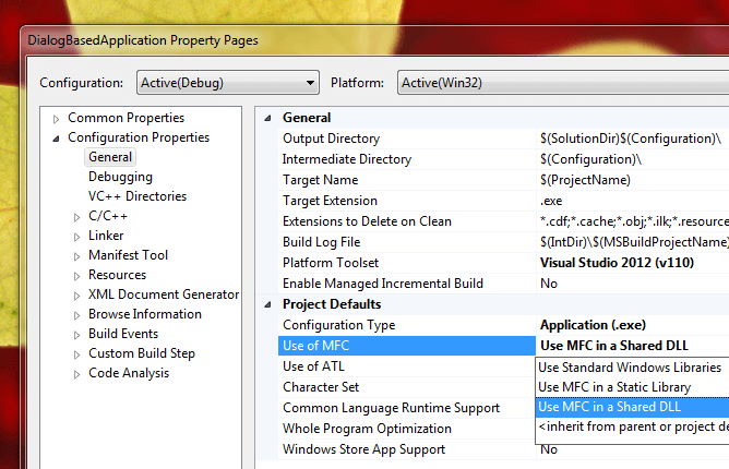 Use of MFC for Dialog Based Application Created with Visual C++