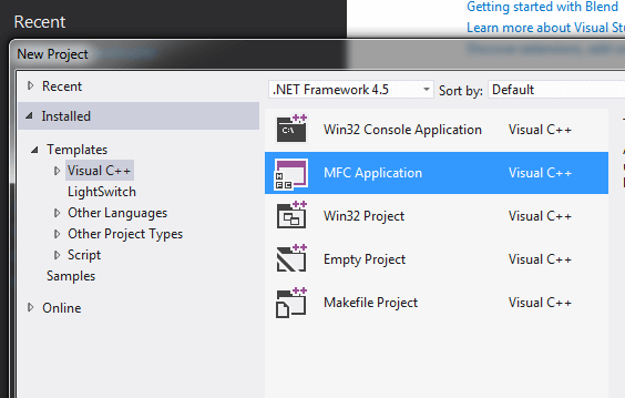 Visual C++ Example to Create MFC Dialog Based Application
