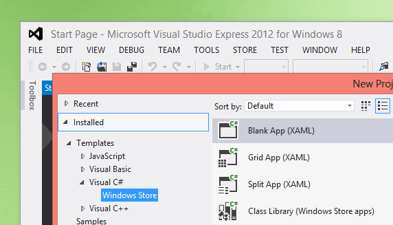 Training for Creating Windows 8 Apps with Visual Studio